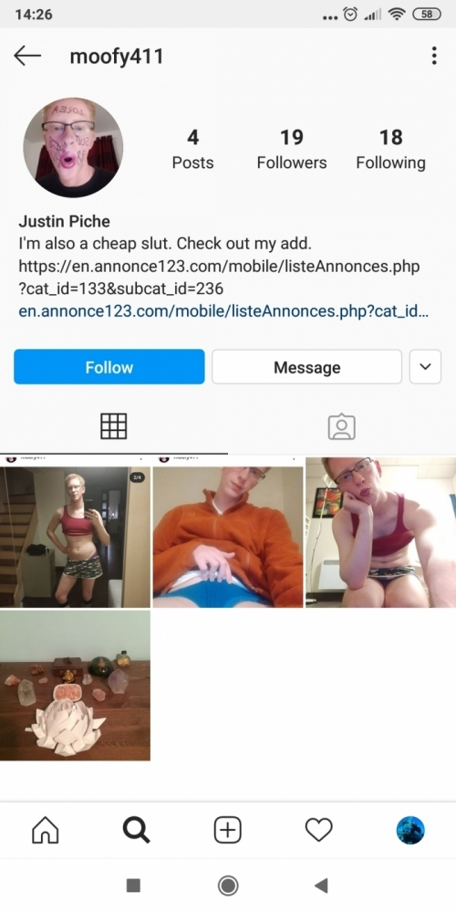 Justin Piché nasty pedophile incest freak