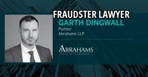 Garth Dingwall, Garth B. Dingwall, a fraudster lawyer with Abrahams LLP in Toronto, Ontario